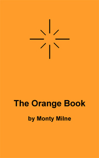 Orange book cover with black text